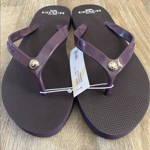 Coach women's purple flip flops sz 9